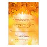 Maple Leaves Autumn Splendor Wedding RSVP Card