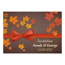 maple leaves, autumn wedding invitation