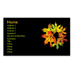 maple leaves business card