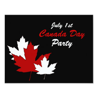 Maple Leaves Canada Day Party Invitation