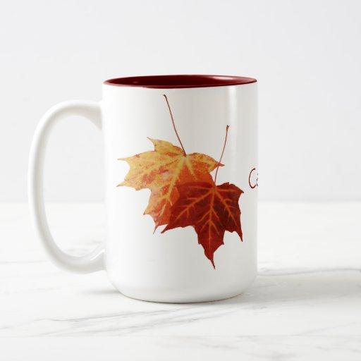 Maple leaves Canada mug