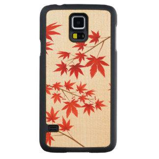 Maple Leaves Carved Maple Galaxy S5 Slim Case