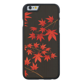 Maple Leaves Carved Maple iPhone 6 Case