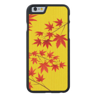 Maple Leaves Carved Maple iPhone 6 Slim Case