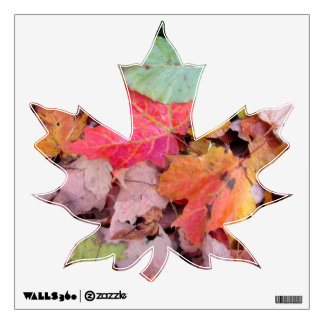 Maple leaves decal