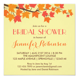 Maple Leaves Fall Wedding Invitation
