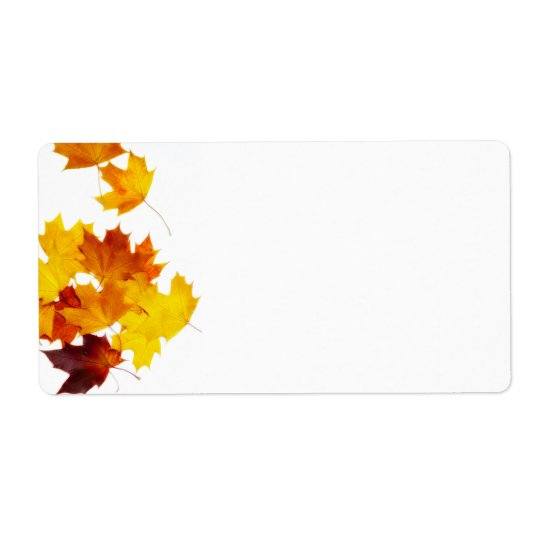Maple leaves label