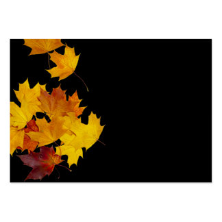 Maple leaves large business card