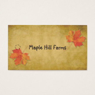 Maple Leaves Maple Syrup Hang Tag