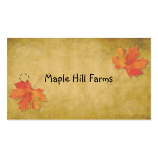 Maple Leaves Maple Syrup Hang Tag Business Card