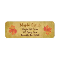 Maple Leaves Maple Syrup Label Small