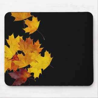Maple leaves mouse pad