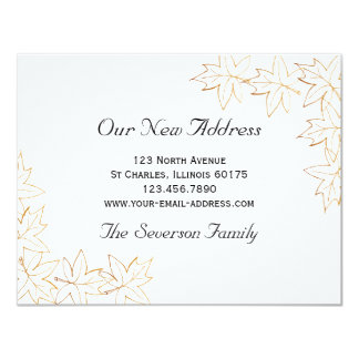 Maple Leaves New Address Announcement