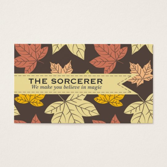Maple Leaves Pattern Professional Business Card