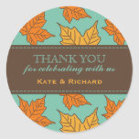 Maple Leaves Pattern Wedding Favor Stickers