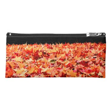Beach Themed Maple Leaves Pencil Case