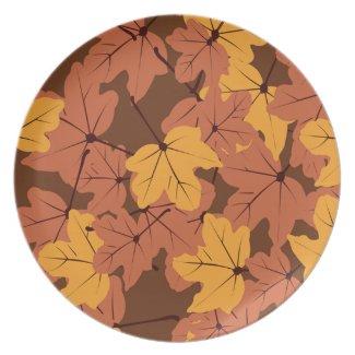 Maple Leaves Plate