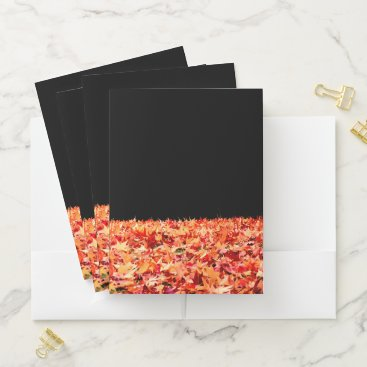 Beach Themed Maple Leaves Pocket Folder