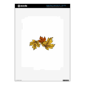 Maple Leaves Skin For iPad 3