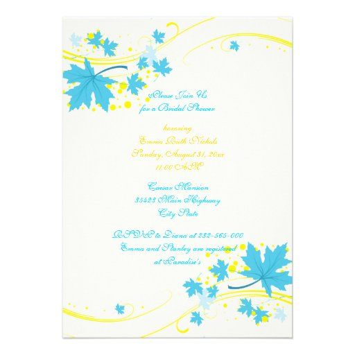 Turquoise And Yellow Invitations 1800 Turquoise And Yellow Announcements Amp Invites