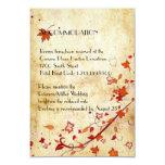 Maple Leaves Vintage Fall Wedding Accommodation Custom Invitations