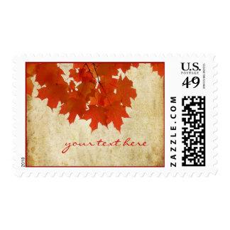 Maple Leaves, Vintage Fall Wedding Postage