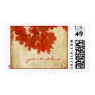 Maple Leaves, Vintage Fall Wedding Stamp