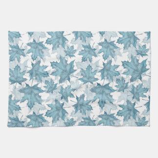 Maple leaves. Watercolor pattern Towel