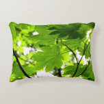 Maple Leaves with Raindrops Decorative Pillow