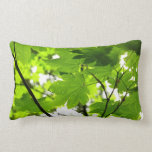 Maple Leaves with Raindrops Lumbar Pillow
