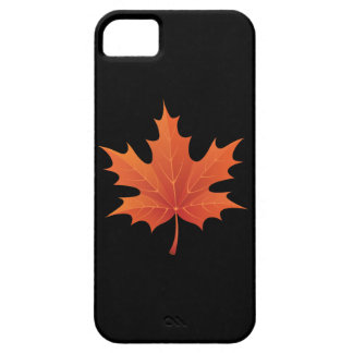 Maple on Pitch Black iPhone 5 Covers