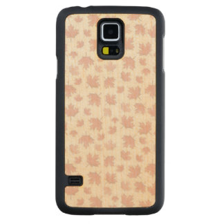 Maple Pattern Carved Maple Galaxy S5 Case