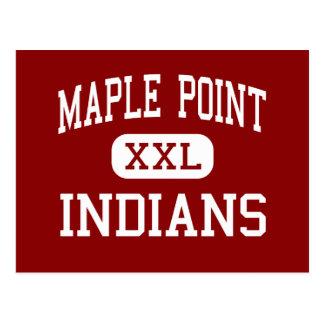 Maple Point - Indians - Middle - Langhorne Postcard