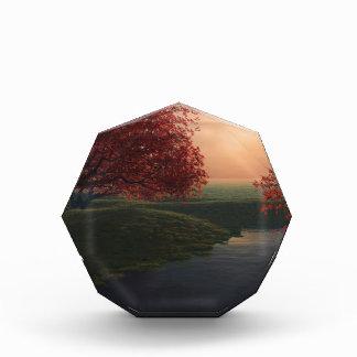 maple pond ..beautiful landscape acrylic award
