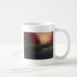 maple pond ..beautiful landscape coffee mug
