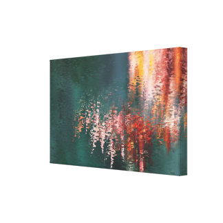 Maple reflections abstract stretched canvas print