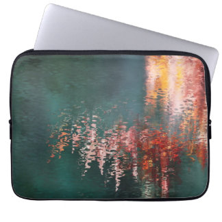 Maple reflections abstract computer sleeve