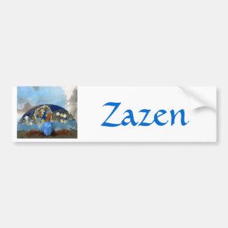 Maple Seed Meditation - collage Car Bumper Sticker
