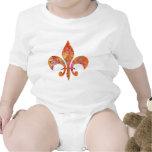 Maple Star Designer Fleur-de-Lis Baby Bodysuit