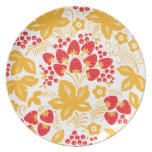 Maple Strawberry Party Plates
