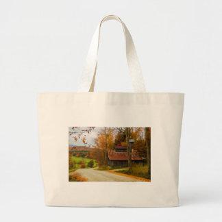 Maple Sugar Shack in  Vermont Fall Jumbo Tote Bag