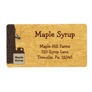 Maple Syrup Business Label Shipping Label