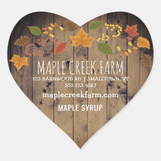 Maple Syrup Business Product Label Autumn Leaves