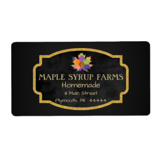 Maple Syrup Business Shipping Label