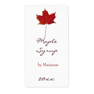 Maple syrup canning label shipping label