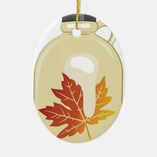 Maple Syrup Ceramic Ornament