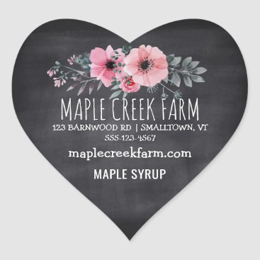 Professional Business Maple Syrup Chalkboard Business Product Label