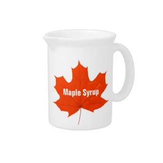 Maple syrup drink pitcher