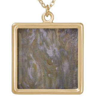 Maple Syrup Droplets Gold Plated Necklace