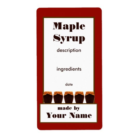 Maple Syrup Jar Label 2